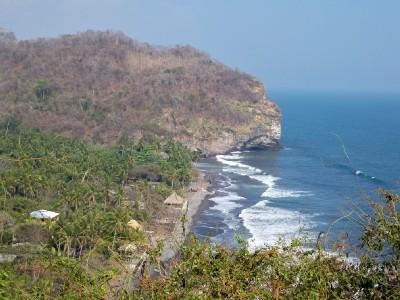 Great views over the coastline in El Salvador