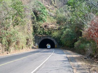 Cycling through tunnels in El Salvador