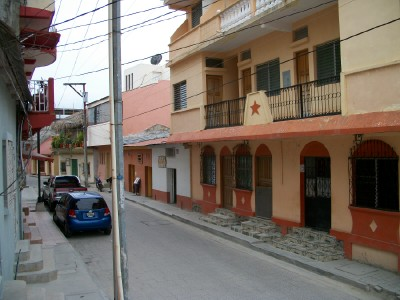 The streets of Flores in Guatemala