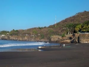 A morning stroll on the beach in El Salvador