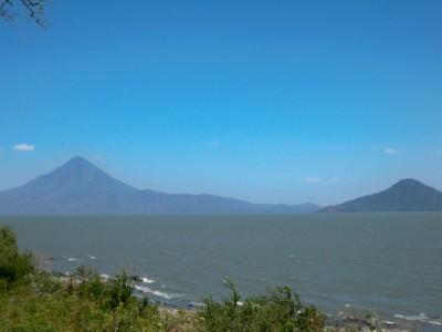 A volcano lake in Nicaragua