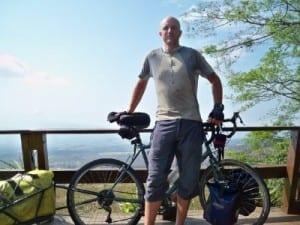 Dave Briggs cycling in El Salvador