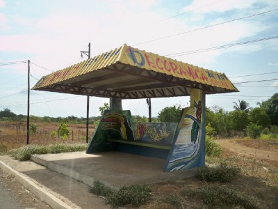 Another colorful bus stop in Panama