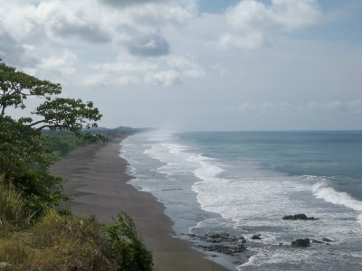 A view of the Costa Rica coast