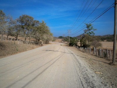 Cycling a dirt road in Costa Rica