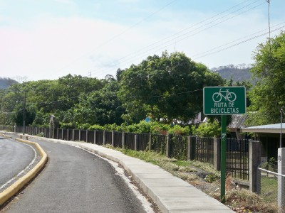 Random bike path in Costa Rica