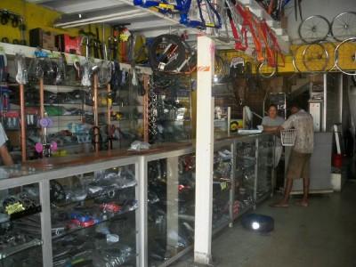 A bicycle shop in Cartagena, Colombia