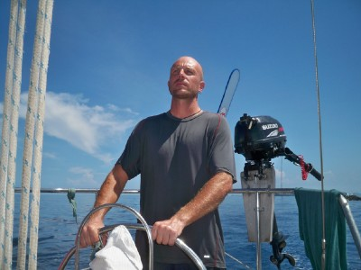 Captain Dave Briggs sailing from Panama to Colombia
