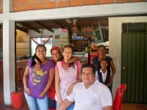 A chatty family in Colombia