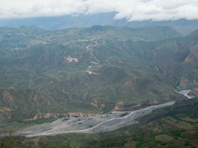 The views out over the hills and valleys near El Remolino, Colombia