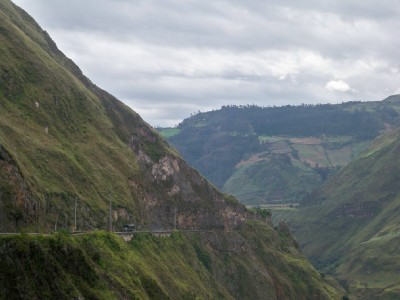 A view to Ipiales in Colombia