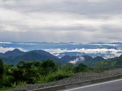 Bike touring in Colombia you see some amazing views