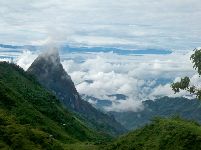Mountains and clouds near Riosucio in Colombia