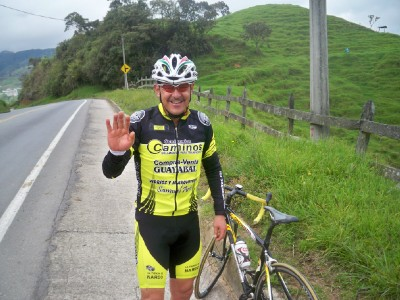 Rodrigo a cyclist from Colombia