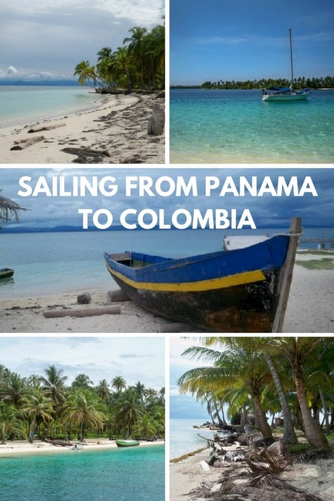Sailing from Panama to Colombia via the San Blas islands.