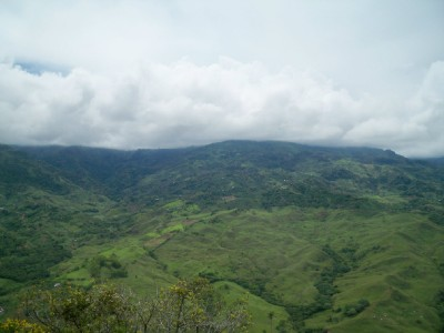 The view from Supia in Colombia