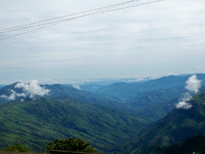 A view from the road near Yarumul in Colombia