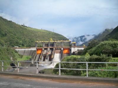 A hydro-electric dam just outside of Banos, Ecuador