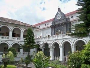 A nice building in Banos Ecuador