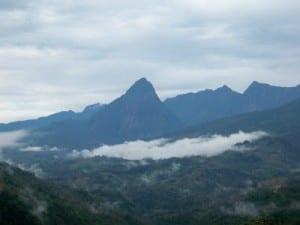 A look out onto the mountains of Ecuador