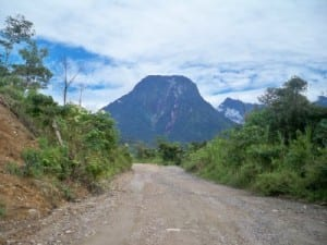 One of the dirt roads I cycled in Ecuador