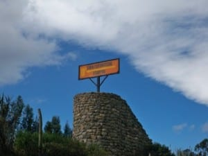 Cycling from Cayambe to Quito over the equator