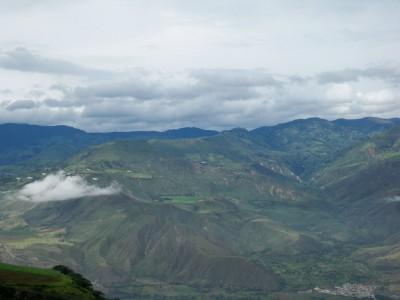 Impressive mountains outside of Ibarra in Ecuador