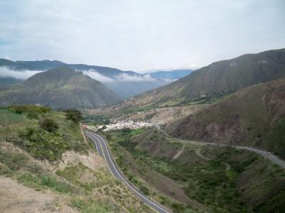 Cycling near Ibarra in Ecuador