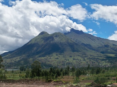 The volcano near Ibarra, Ecuador