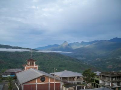 Cycling out of Indanza in Ecuador