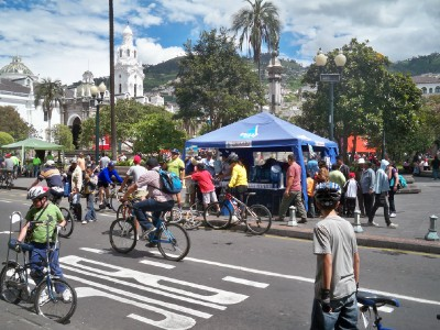 Quito Cyclists on a Sunday