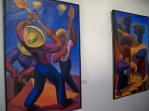 Art display in Cajamarca