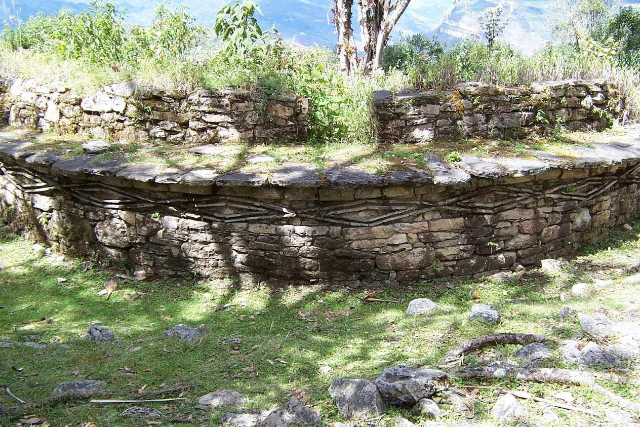Foundations of a hut inside Kuelap Peru