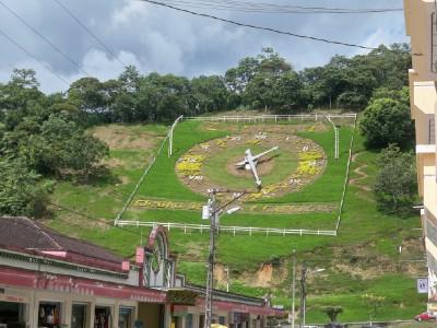 A big clock on the hillside near Zamora