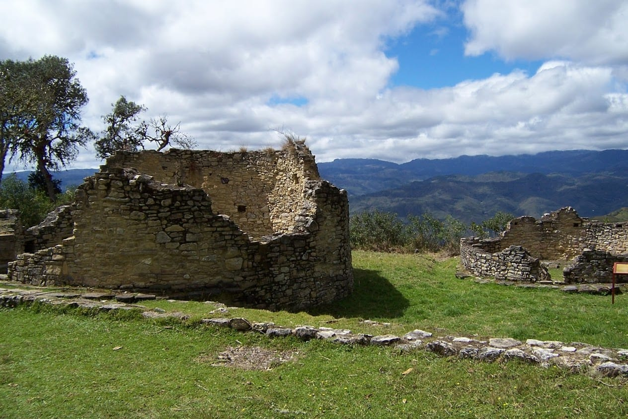 Hut foundations in Kuelap, Peru