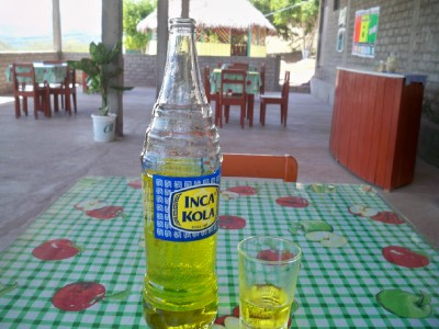 Inca Kola - the drink of choice for cyclists in Peru!
