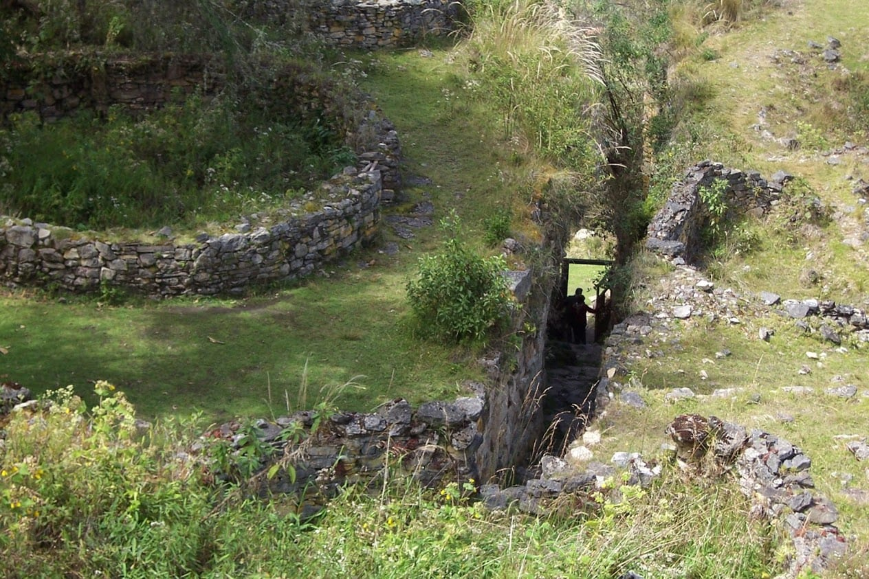 Inside the site of Kuelap in Peru