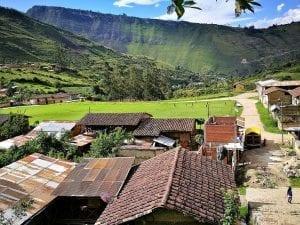Walking through rural Leymebamba