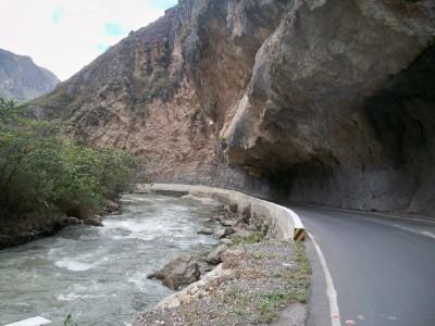a road cycling in Peru