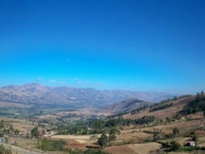 Cycling from Cajamarca to San Marcos in Peru