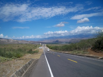 The road to Bagua Grande in Peru