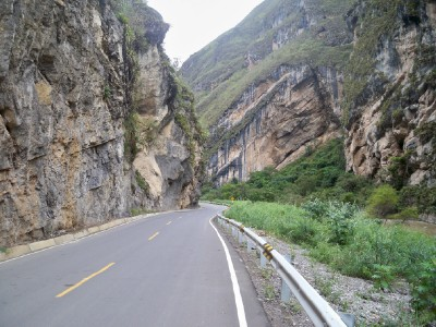 The road to Chachapoyas from Pedro Ruiz