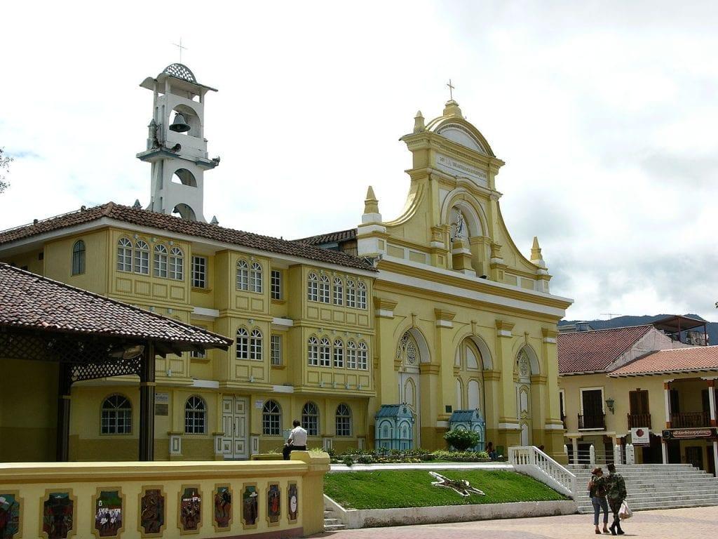 San Sebastian church in Loja, Ecuador
