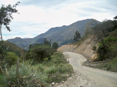 Dirt roads leading toward Valladolid in Ecuador