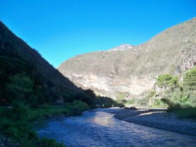 Cycling through the Utcubamba Valley in Peru
