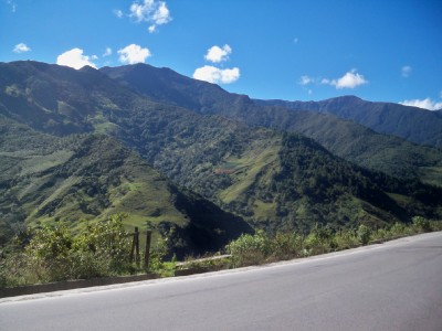 Cycling towards Vilcabamba in Ecuador