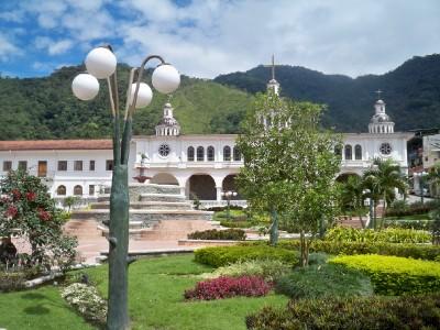 The plaza in Zamora in Ecuador
