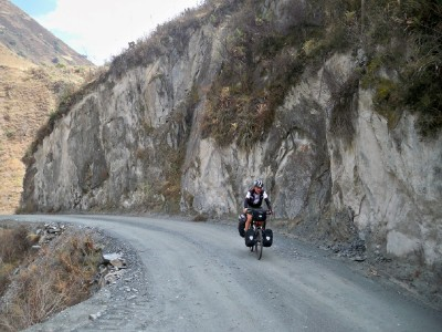Agusti from Barcelona cycling the dirt roads in Peru