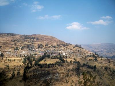 The town of Chavinillo in Peru