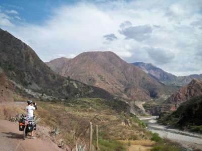Cycling to Mayocc in Peru